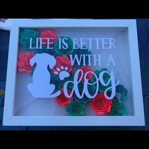 Dog themed shadow box